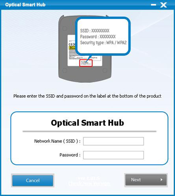 Run a Optical Smart Hub Install Program